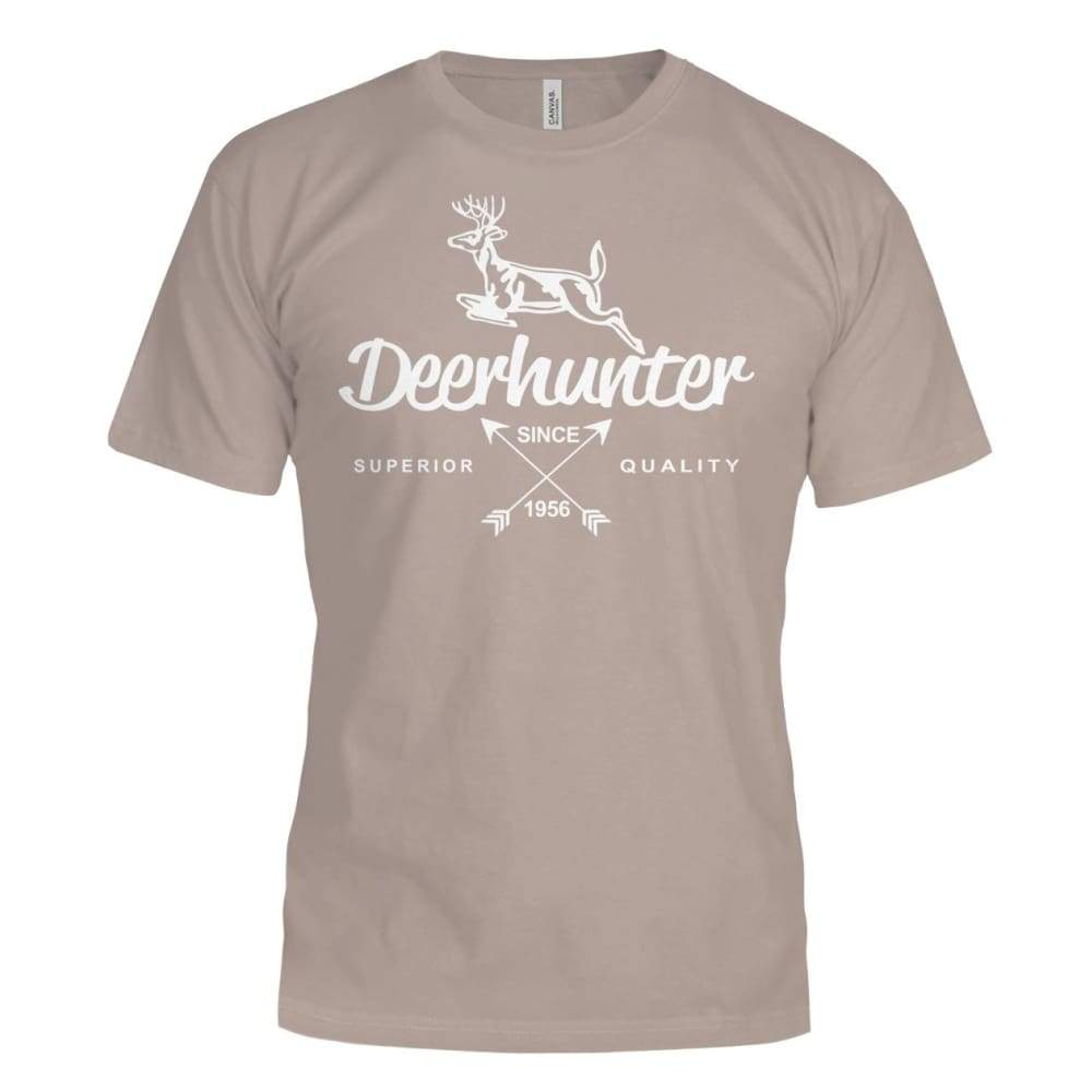 Deerhunter Classic Bella Canvas Tee - Pebble Brown / S - Short Sleeves