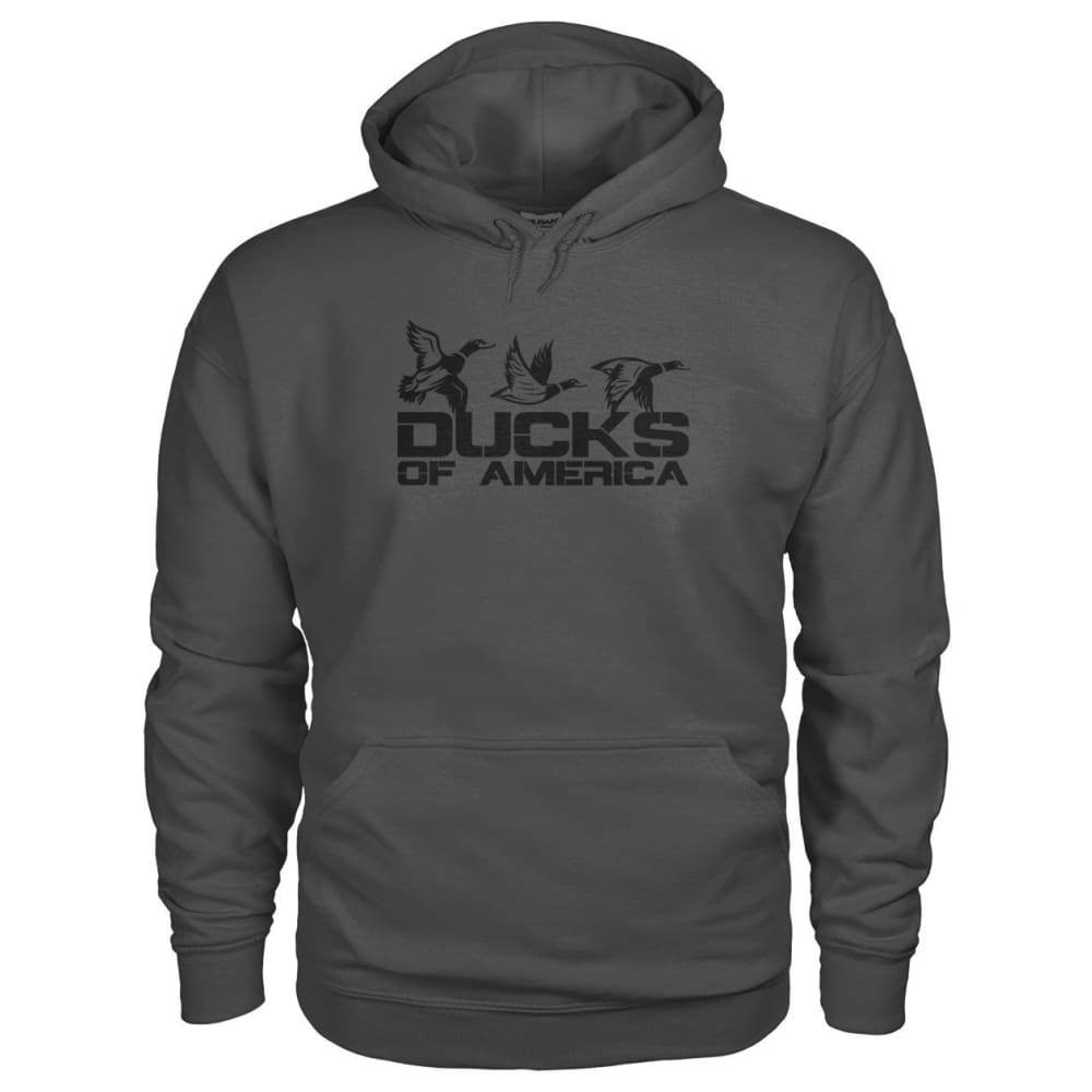 Ducks Of America (Black) Gildan Hoodie - Charcoal / S - Hoodies