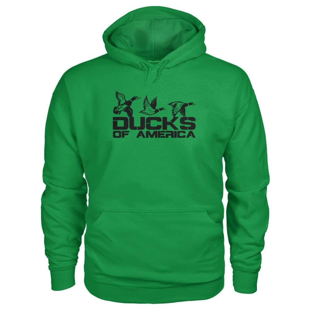 Ducks Of America (Black) Gildan Hoodie - Irish Green / S - Hoodies