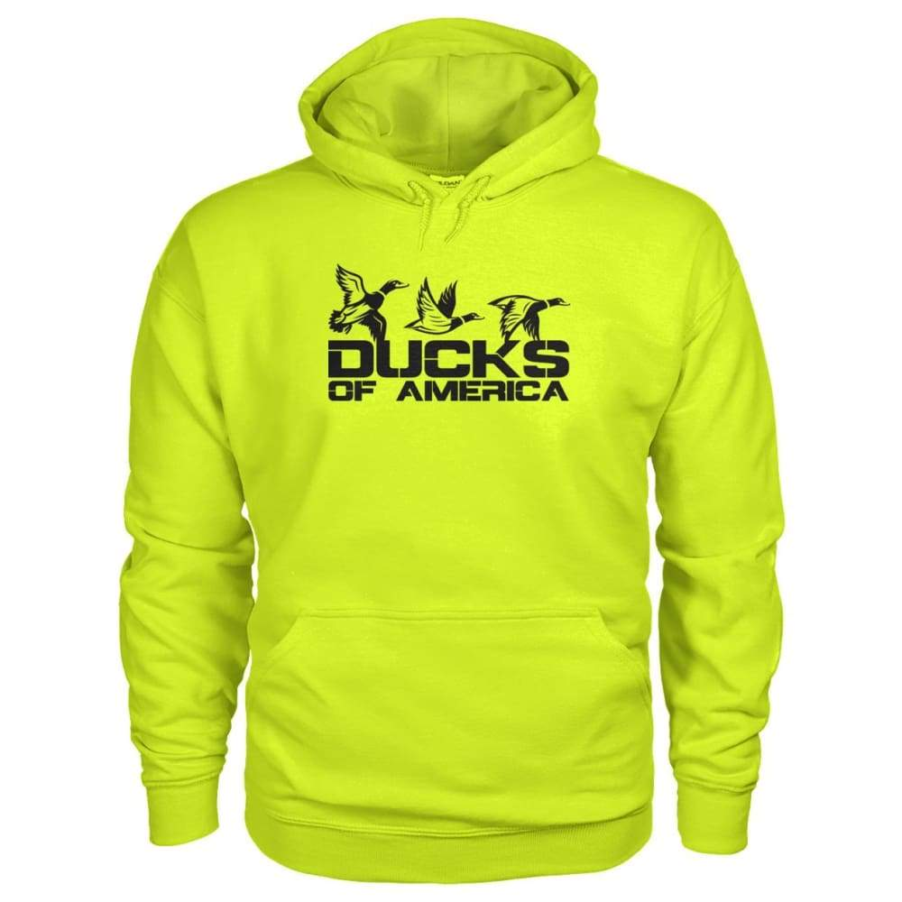 Ducks Of America (Black) Gildan Hoodie - Safety Green / S - Hoodies