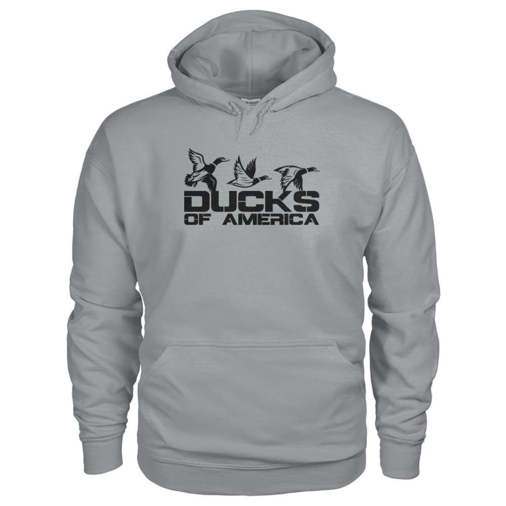Ducks Of America (Black) Gildan Hoodie - Sport Grey / S - Hoodies
