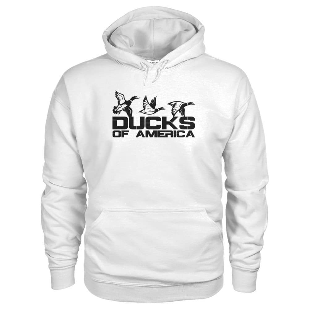 Ducks Of America (Black) Gildan Hoodie - White / S - Hoodies