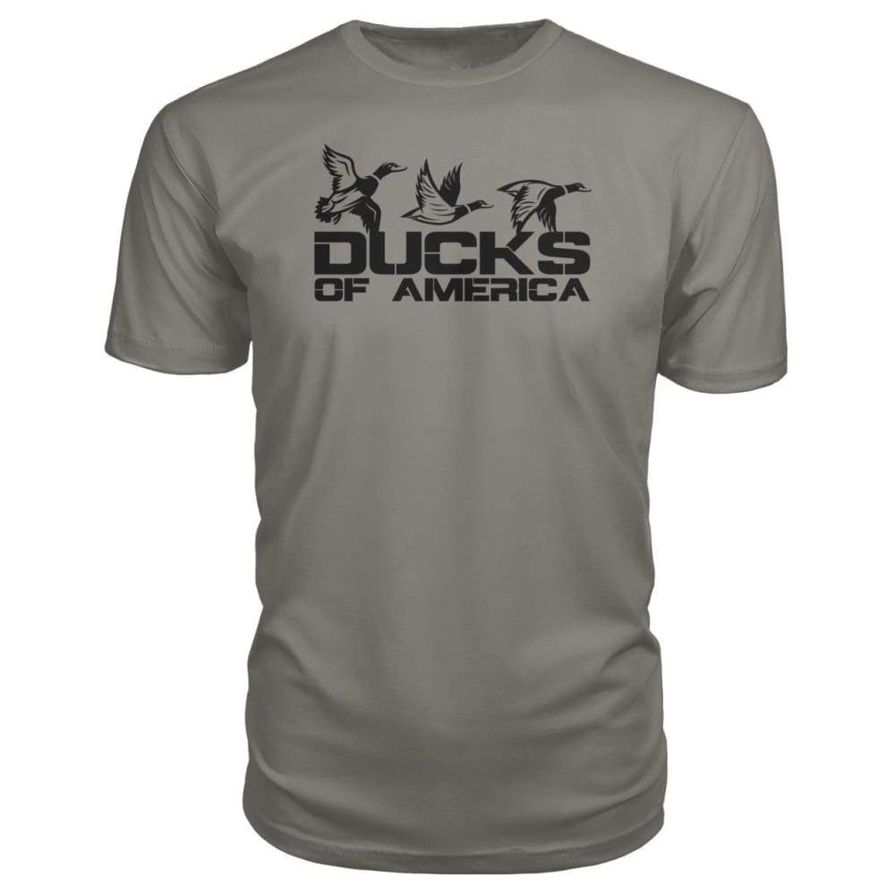 Ducks Of America (Black) Premium Unisex Tee - Charcoal / S - Short Sleeves