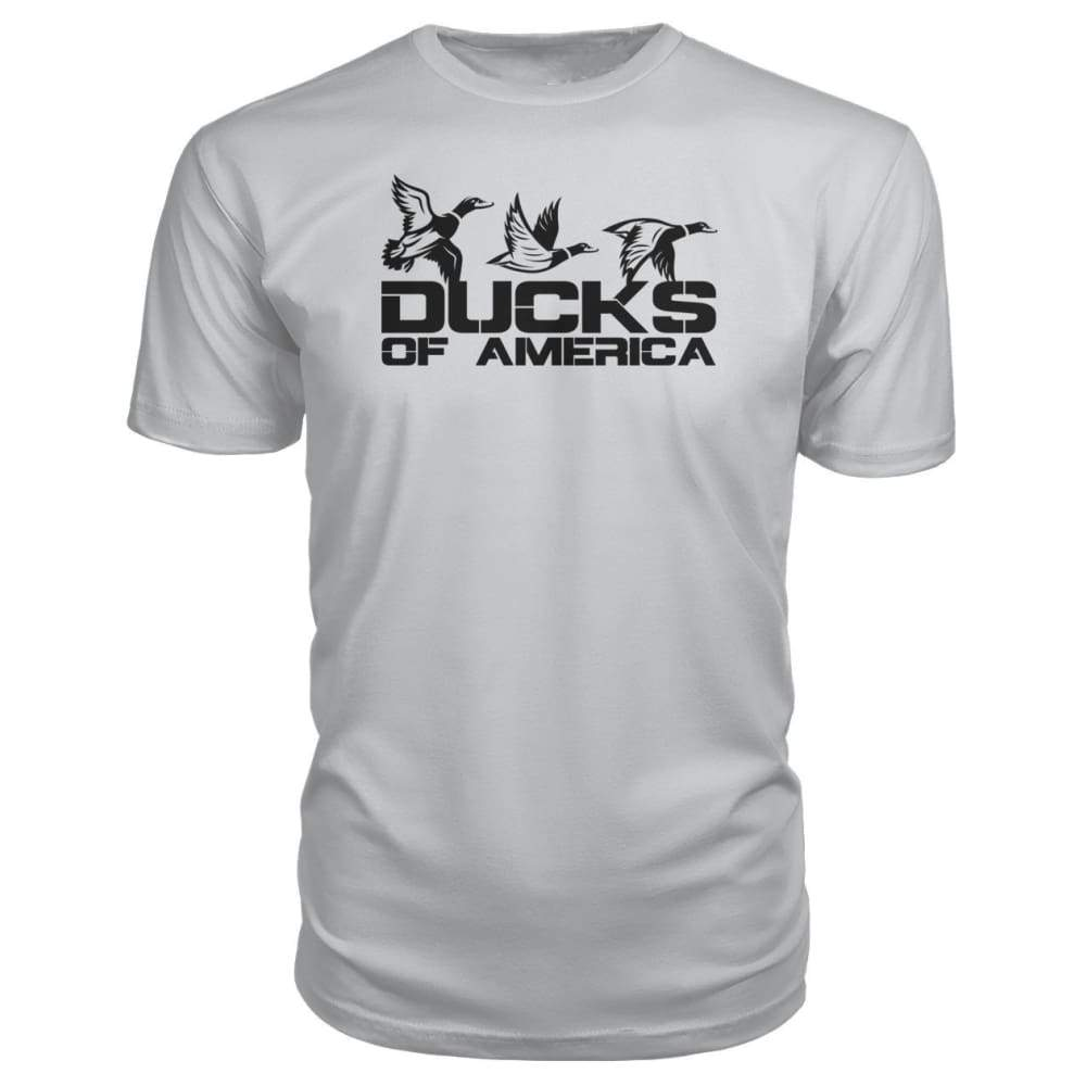 Ducks Of America (Black) Premium Unisex Tee - Silver / S - Short Sleeves