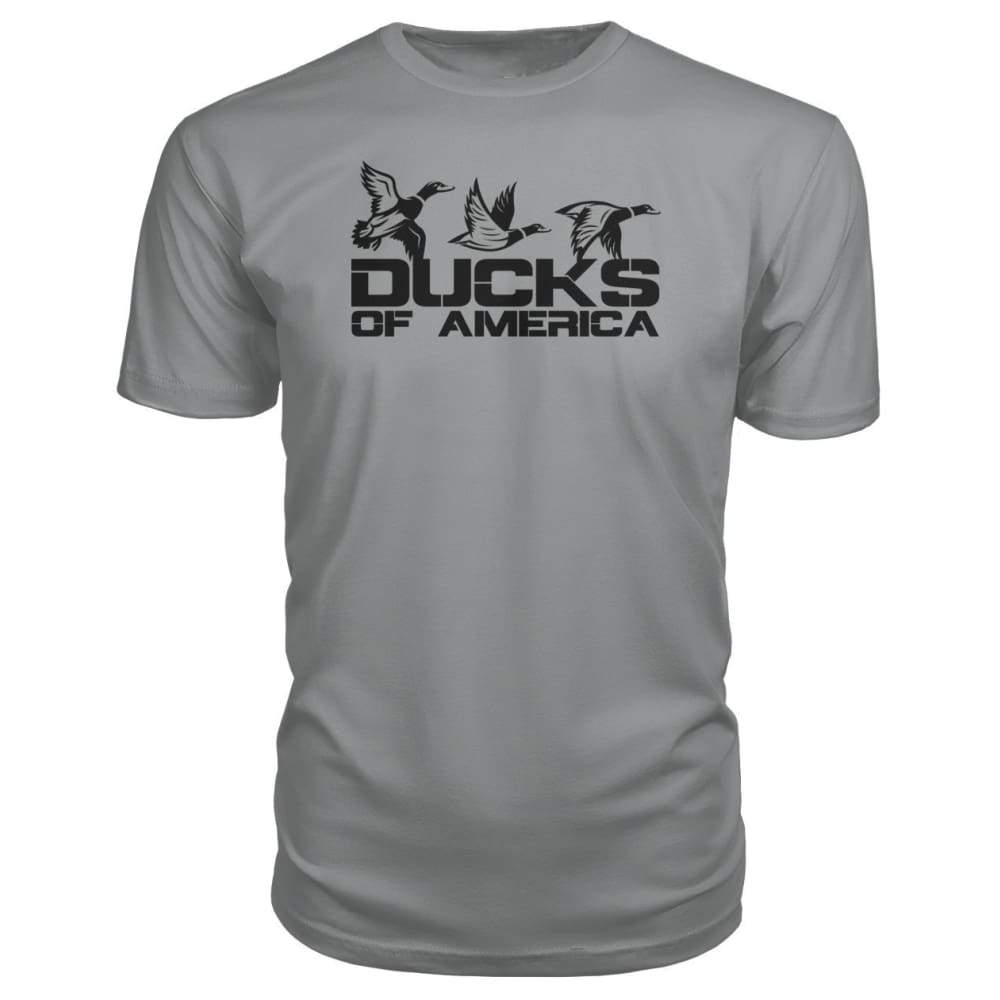 Ducks Of America (Black) Premium Unisex Tee - Storm Grey / S - Short Sleeves