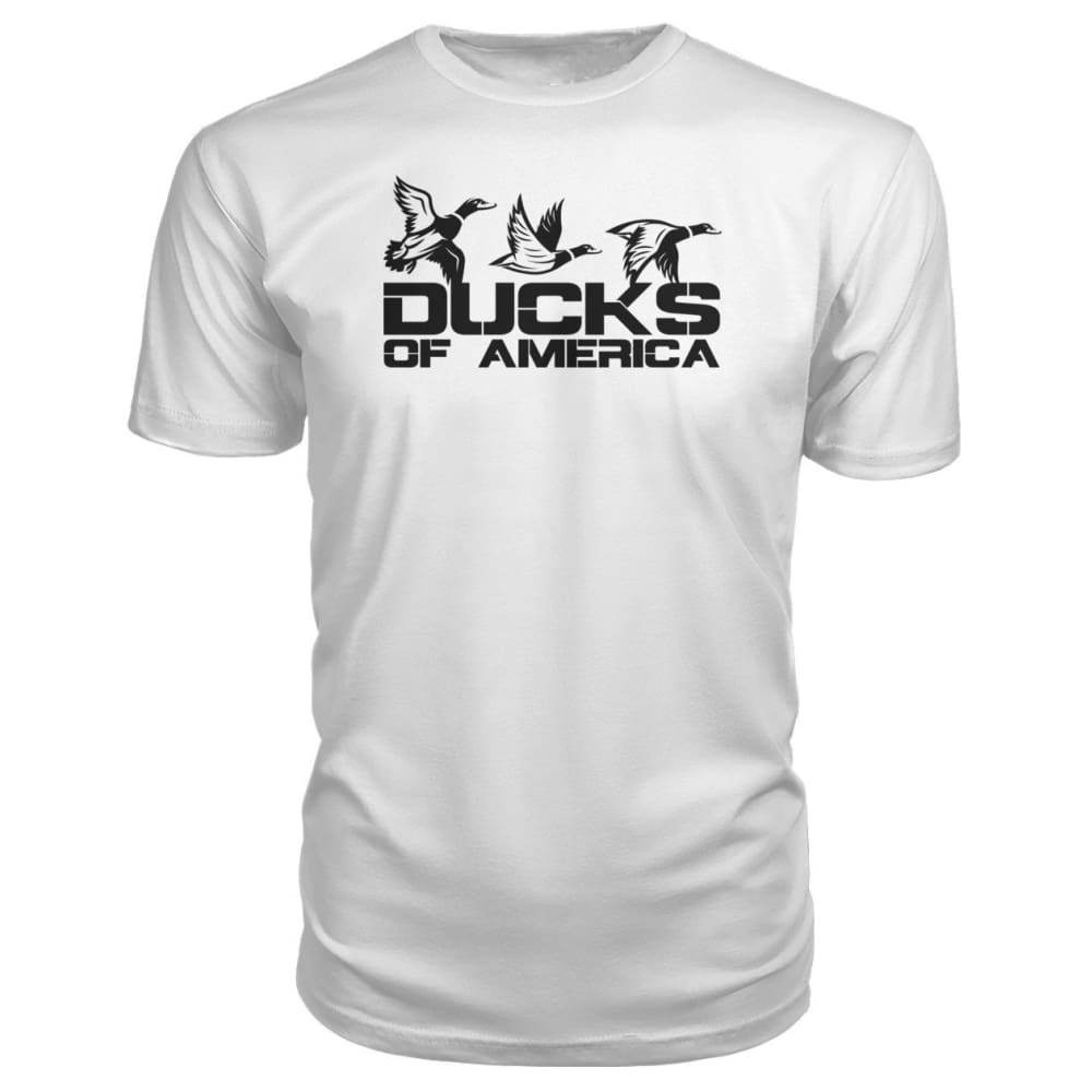 Ducks Of America (Black) Premium Unisex Tee - White / S - Short Sleeves