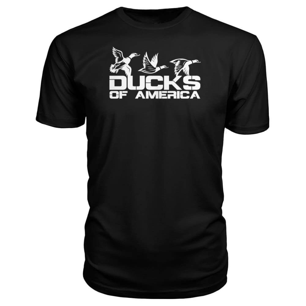 Ducks Of America (White) Premium Unisex Tee - Black / S - Short Sleeves