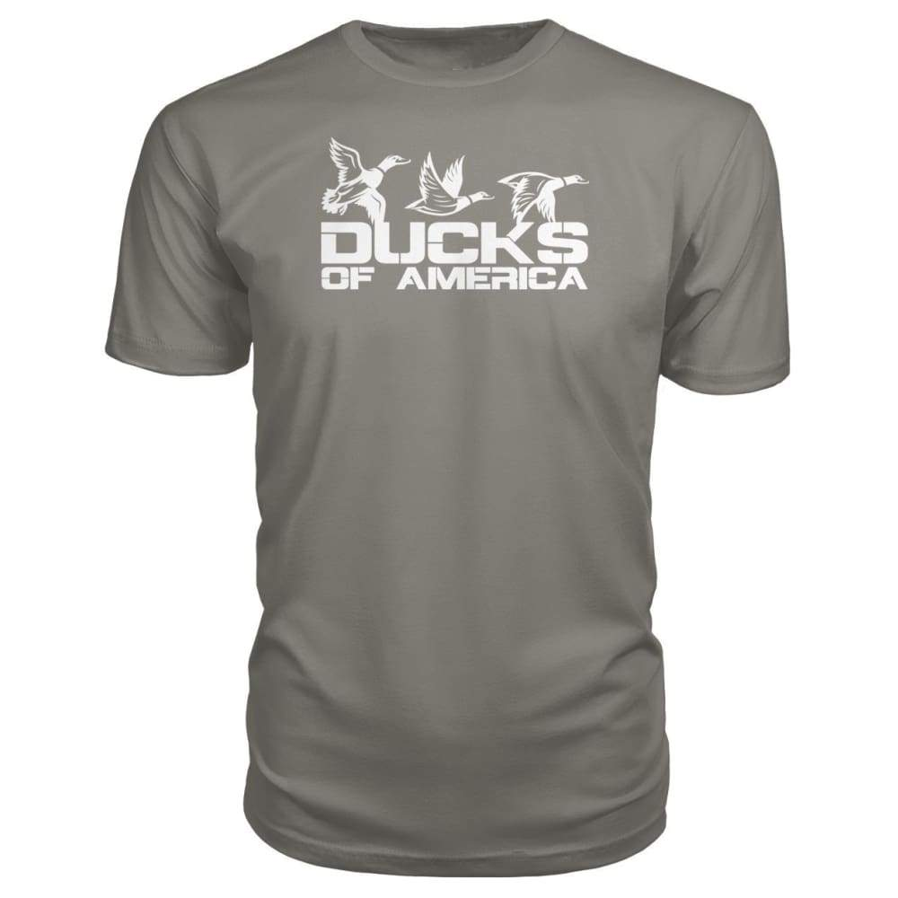 Ducks Of America (White) Premium Unisex Tee - Charcoal / S - Short Sleeves