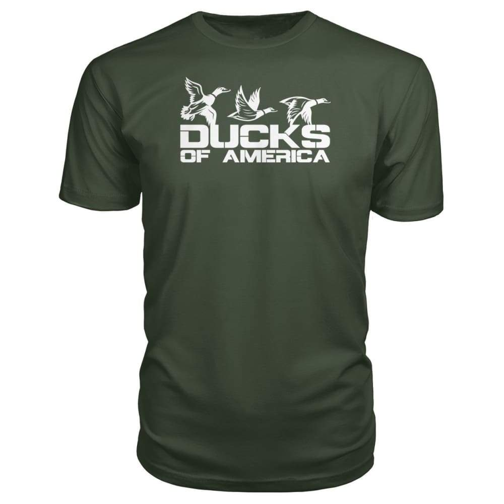 Ducks Of America (White) Premium Unisex Tee - City Green / S - Short Sleeves