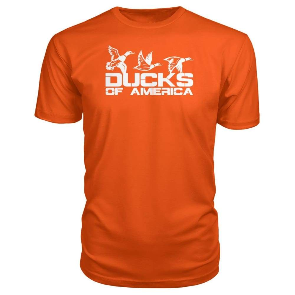 Ducks Of America (White) Premium Unisex Tee - Orange / S - Short Sleeves