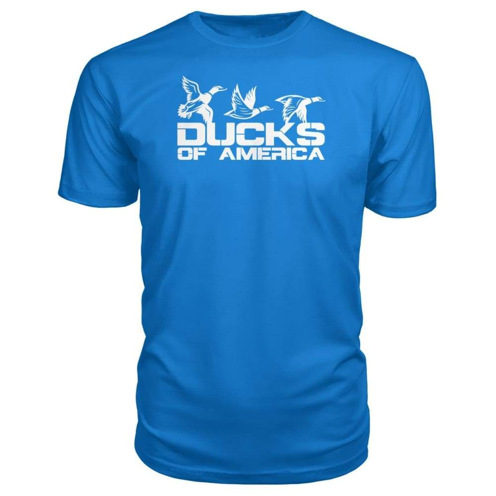Ducks Of America (White) Premium Unisex Tee - Royal Blue / S - Short Sleeves
