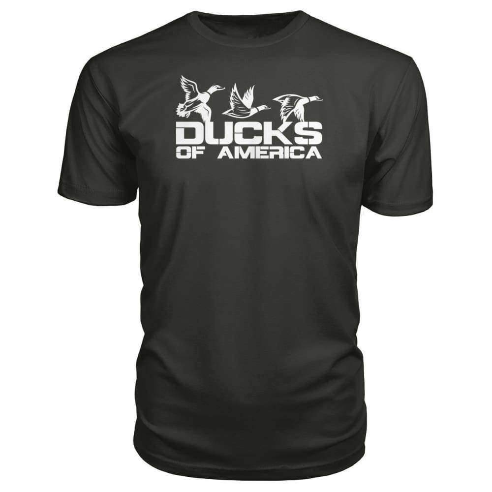 Ducks Of America (White) Premium Unisex Tee - Smoke / S - Short Sleeves