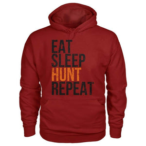 Eat Sleep Hunt Repeat Hoodie - Cardinal Red / S - Hoodies