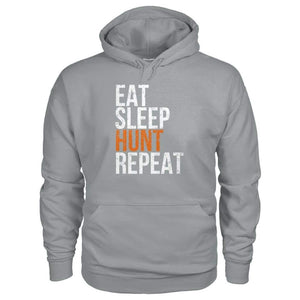Eat Sleep Hunt Repeat Hoodie - Sport Grey / S - Hoodies