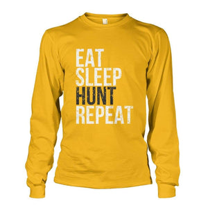 Eat Sleep Hunt Repeat Long Sleeve - Gold / S - Long Sleeves