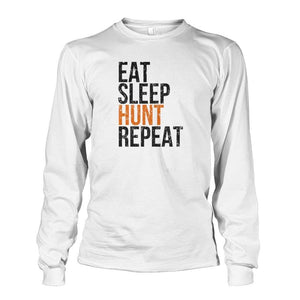 Eat Sleep Hunt Repeat Long Sleeve - White / S - Long Sleeves