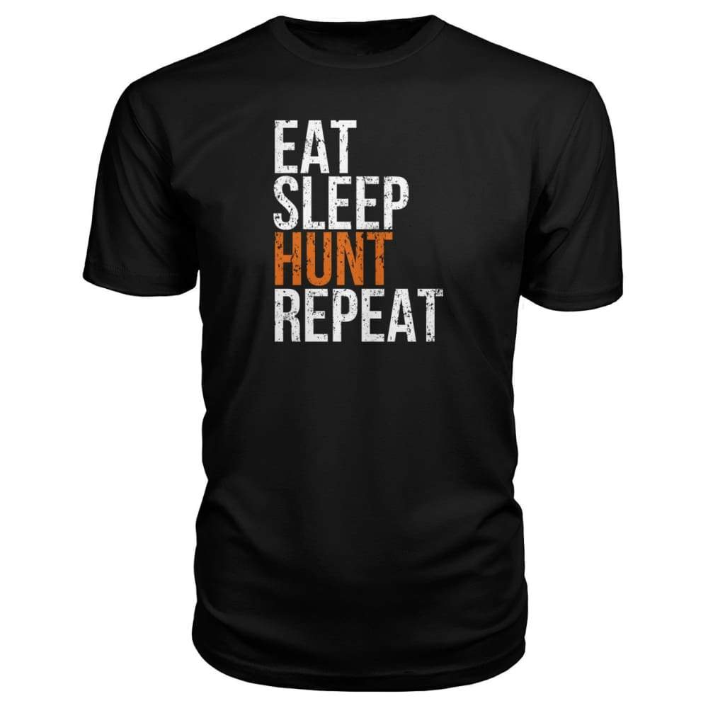 Eat Sleep Hunt Repeat Premium Tee - Black / S - Short Sleeves