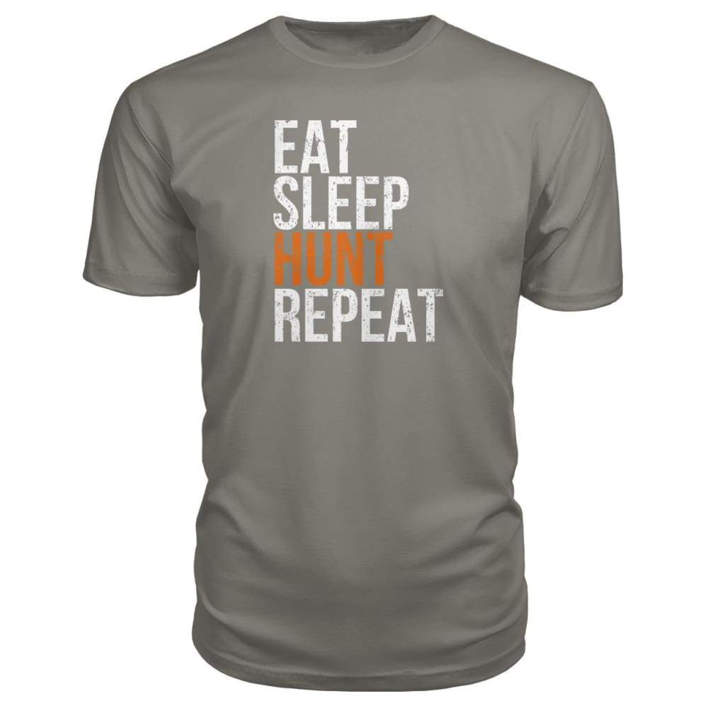 Eat Sleep Hunt Repeat Premium Tee - Charcoal / S - Short Sleeves
