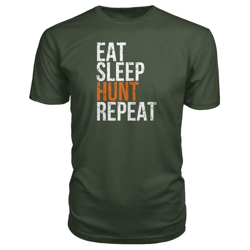Eat Sleep Hunt Repeat Premium Tee - City Green / S - Short Sleeves