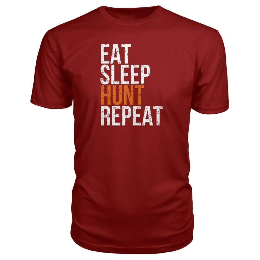 Eat Sleep Hunt Repeat Premium Tee - Independence Red / S - Short Sleeves
