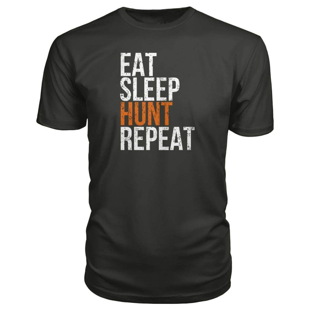 Eat Sleep Hunt Repeat Premium Tee - Smoke / S - Short Sleeves