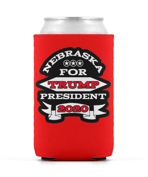 Nebraska For Trump 2020 Koozie