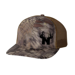 Bucks of Nebraska Antlers Trucker Hat - Kryptek Highlander - Bucks of America