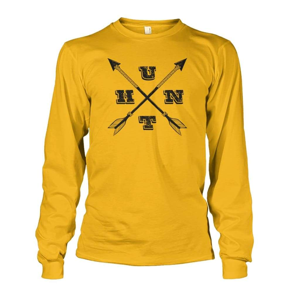 Hunt Arrows Design Long Sleeve - Gold / S - Long Sleeves