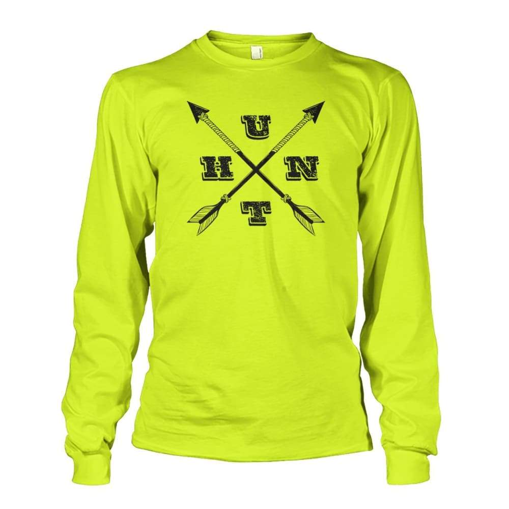 Hunt Arrows Design Long Sleeve - Safety Green / S - Long Sleeves