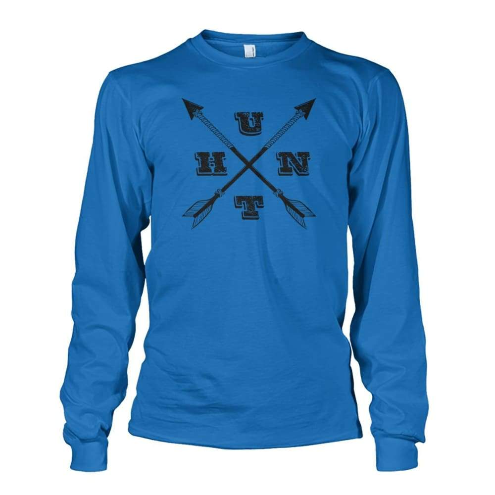Hunt Arrows Design Long Sleeve - Sapphire / S - Long Sleeves