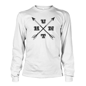 Hunt Arrows Design Long Sleeve - White / S - Long Sleeves