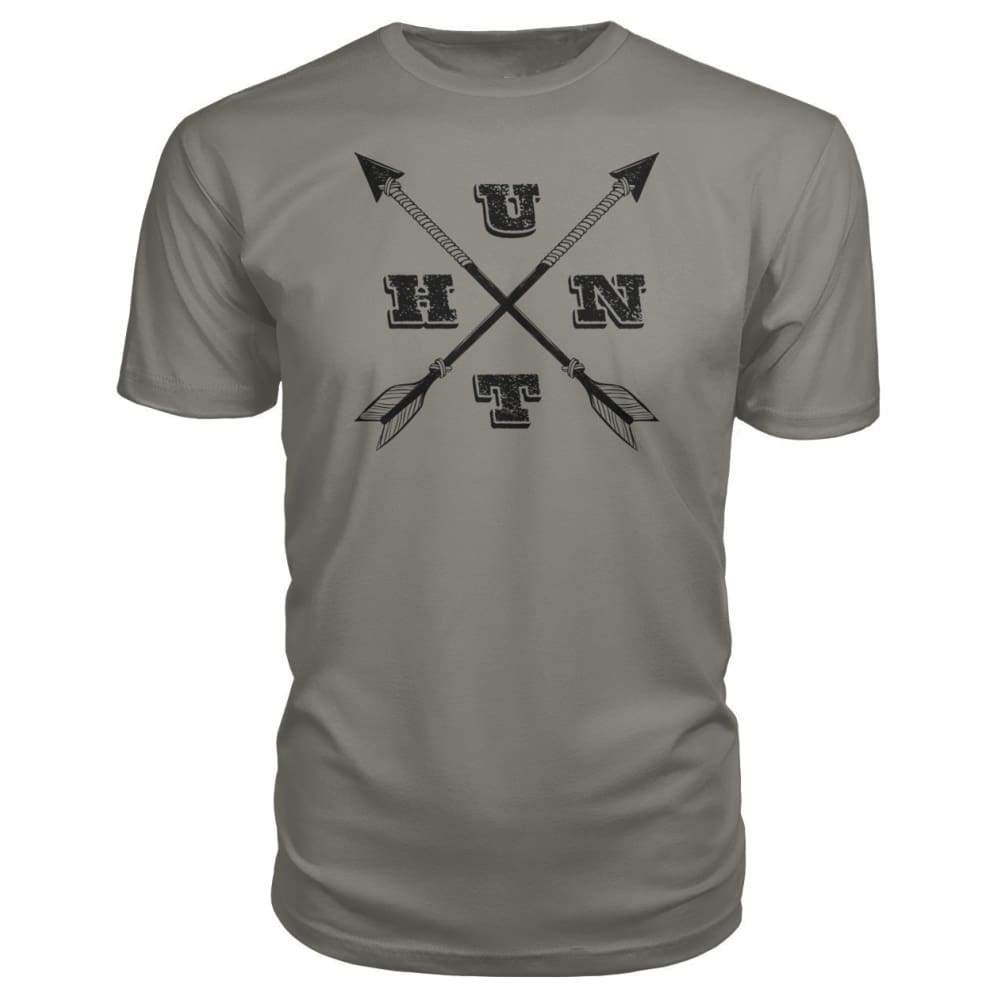 Hunt Arrows Design Premium Tee - Charcoal / S - Short Sleeves