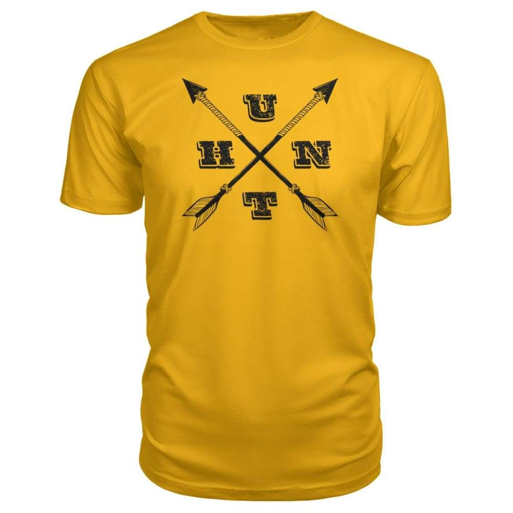 Hunt Arrows Design Premium Tee - Gold / S - Short Sleeves