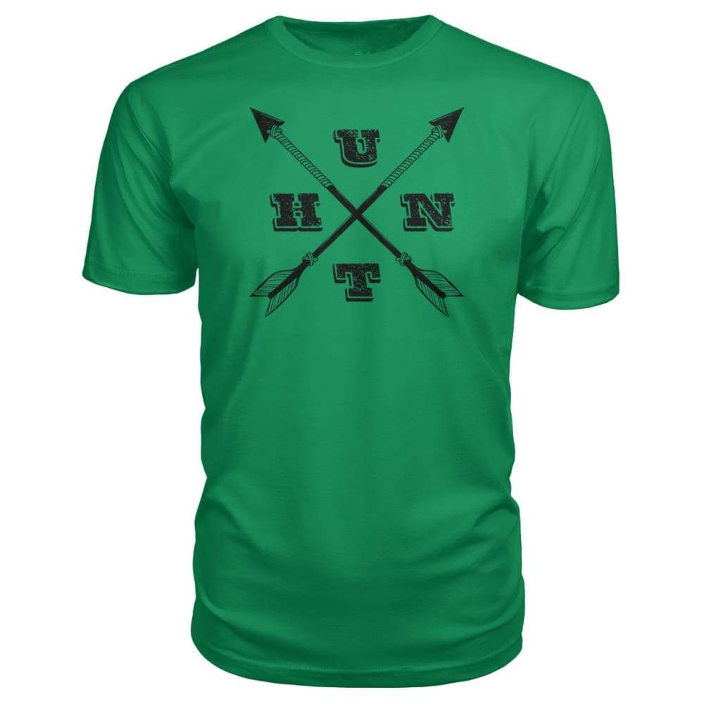Hunt Arrows Design Premium Tee - Green Apple / S - Short Sleeves
