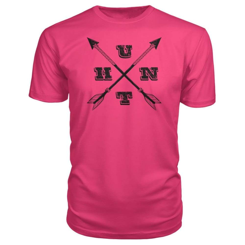 Hunt Arrows Design Premium Tee - Hot Pink / S - Short Sleeves