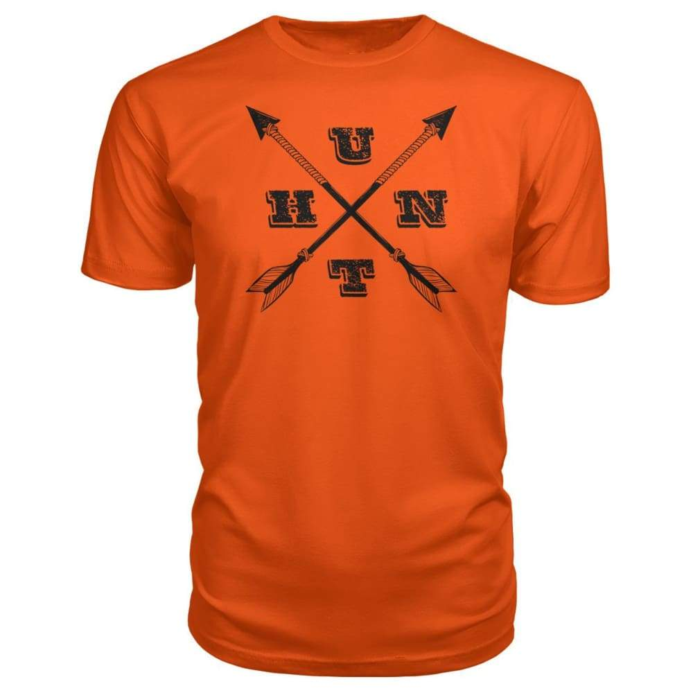 Hunt Arrows Design Premium Tee - Orange / S - Short Sleeves