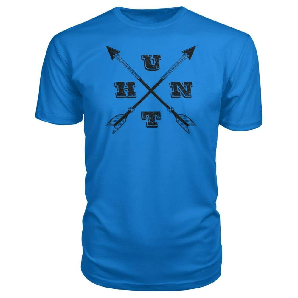 Hunt Arrows Design Premium Tee - Royal Blue / S - Short Sleeves