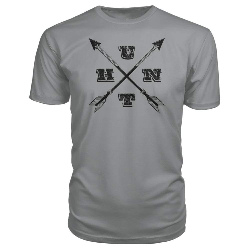 Hunt Arrows Design Premium Tee - Storm Grey / S - Short Sleeves