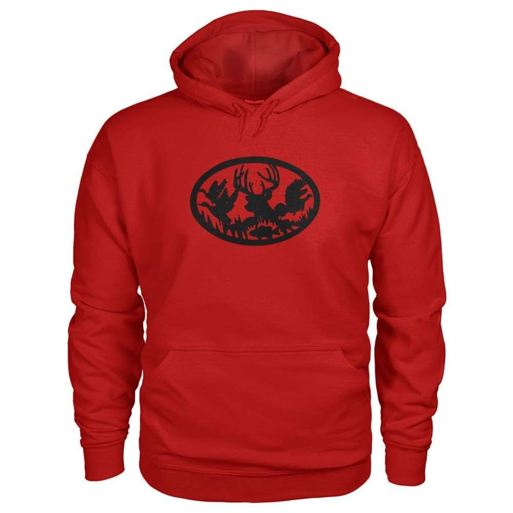 Hunting And Fishing Hoodie - Cherry Red / S - Hoodies