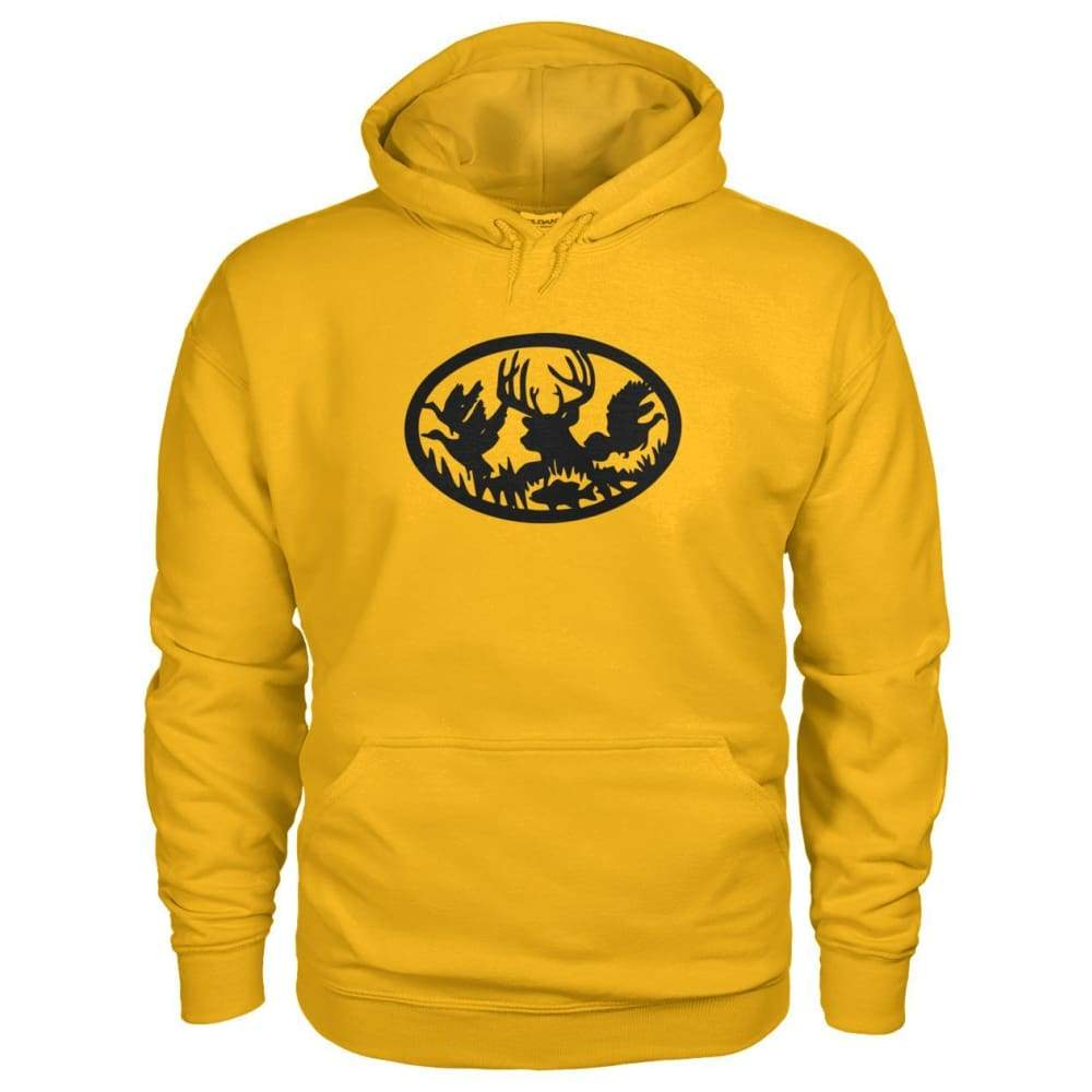 Hunting And Fishing Hoodie - Gold / S - Hoodies
