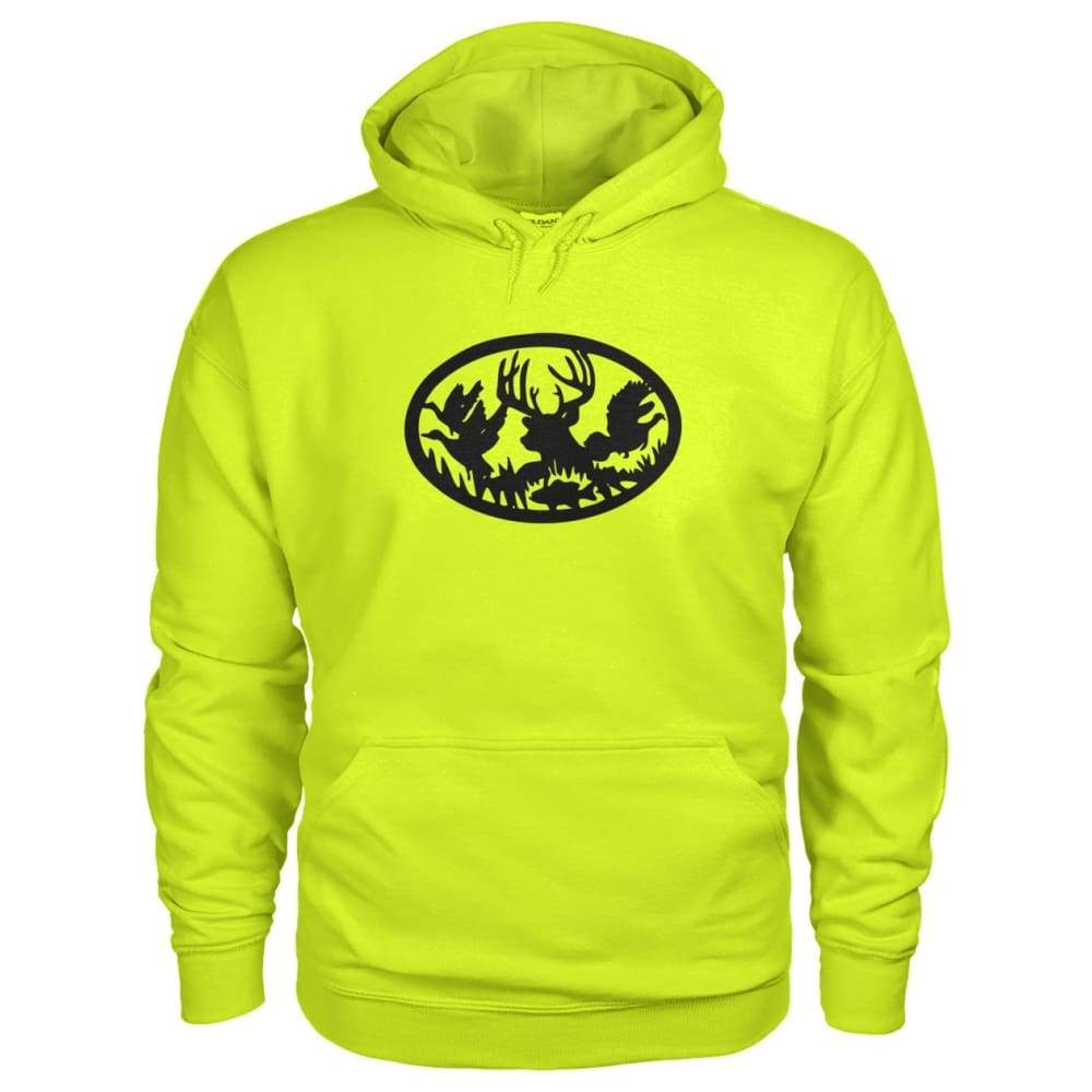 Hunting And Fishing Hoodie - Safety Green / S - Hoodies