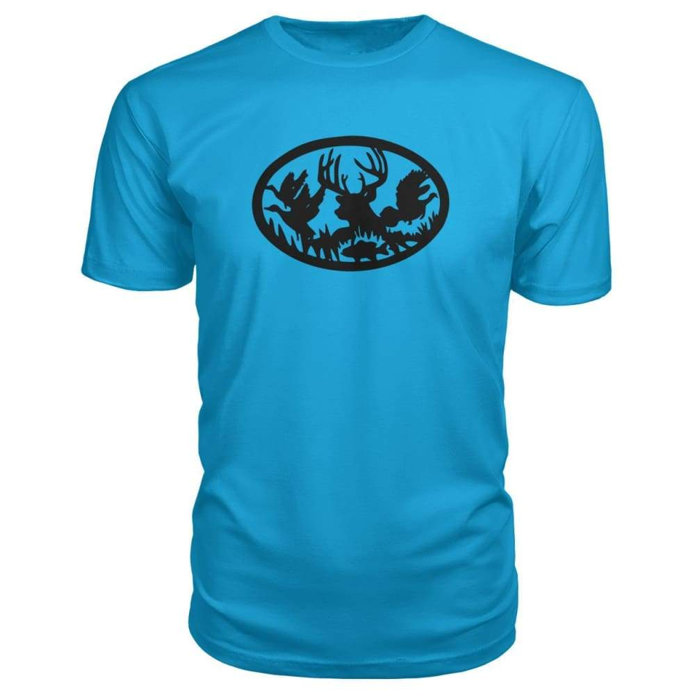 Hunting And Fishing Premium Tee - Carribean Blue / S - Short Sleeves