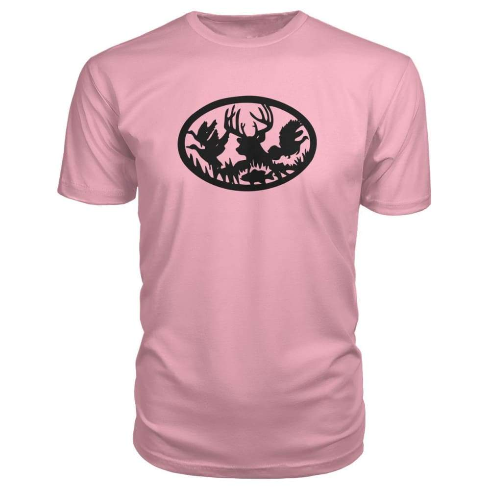 Hunting And Fishing Premium Tee - Charity Pink / S - Short Sleeves