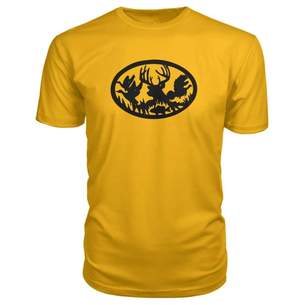 Hunting And Fishing Premium Tee - Gold / S - Short Sleeves