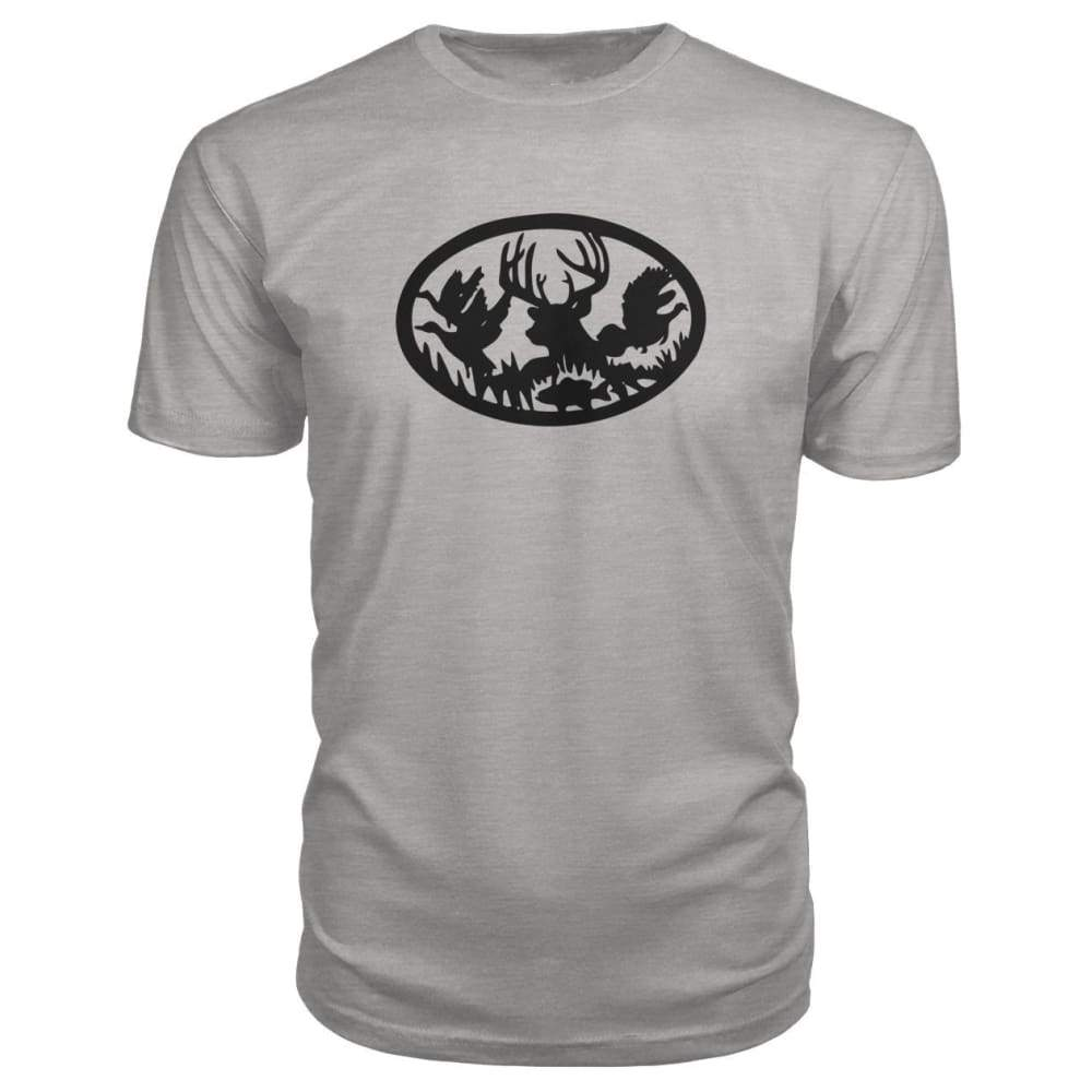Hunting And Fishing Premium Tee - Heather Grey / S - Short Sleeves