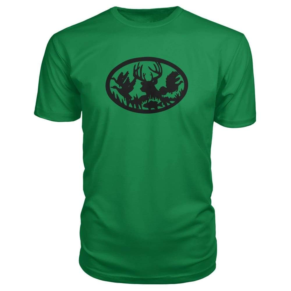 Hunting And Fishing Premium Tee - Kelly Green / S - Short Sleeves