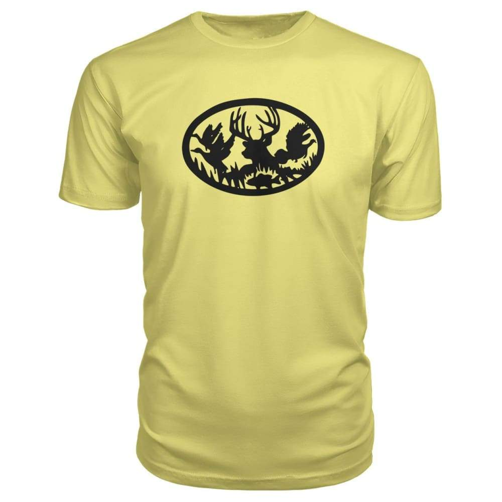Hunting And Fishing Premium Tee - Spring Yellow / S - Short Sleeves