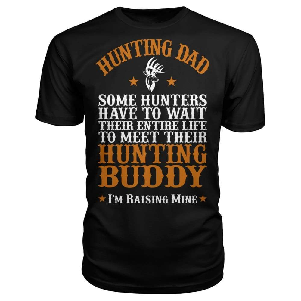 Hunting Dad Premium Unisex Tee - Black / S - Short Sleeves