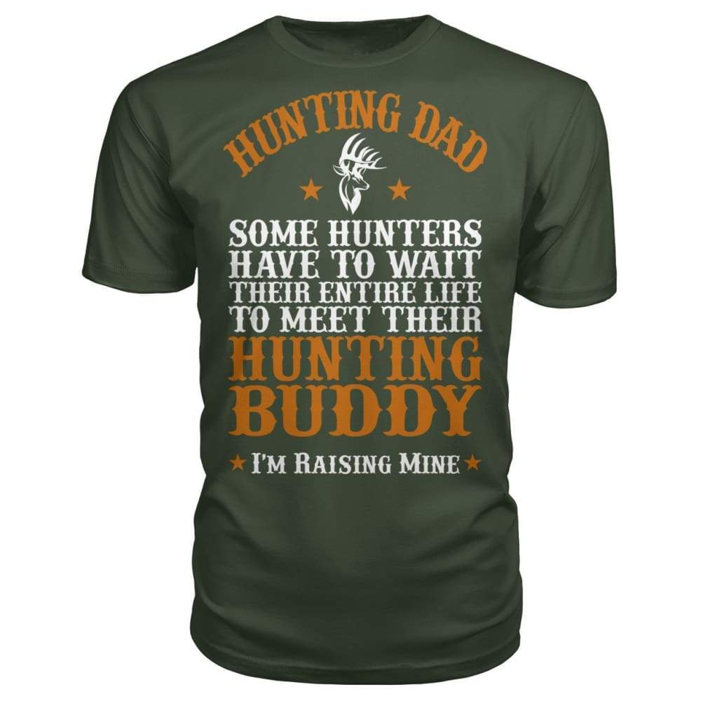 Hunting Dad Premium Unisex Tee - City Green / S - Short Sleeves