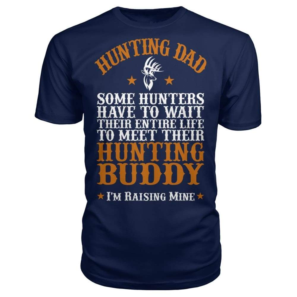 Hunting Dad Premium Unisex Tee - Navy / S - Short Sleeves
